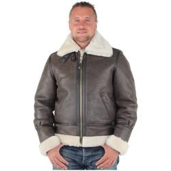 Vêtements Homme Blousons Schott Bombardier  en mouton retourné ref_jaj25766-marron Marron