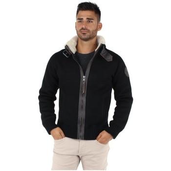 Vêtements Homme Gilets / Cardigans Schott Gros pull  style bombardier ref_jaj28758-noir Noir
