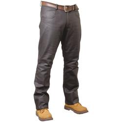 Vêtements Homme Jeans droit Pallas Cuir Pantalon en cuir  sélection ref_reg02703-marron- Marron