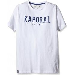Vêtements Garçon T-shirts manches courtes Kaporal T-Shirt  Dona Optical White Blanc