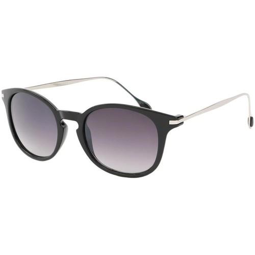 Montres & Bijoux Homme Lunettes de soleil Eye Wear Lunette de soleil Mode Noir Brillant et Argent Zangra Noir