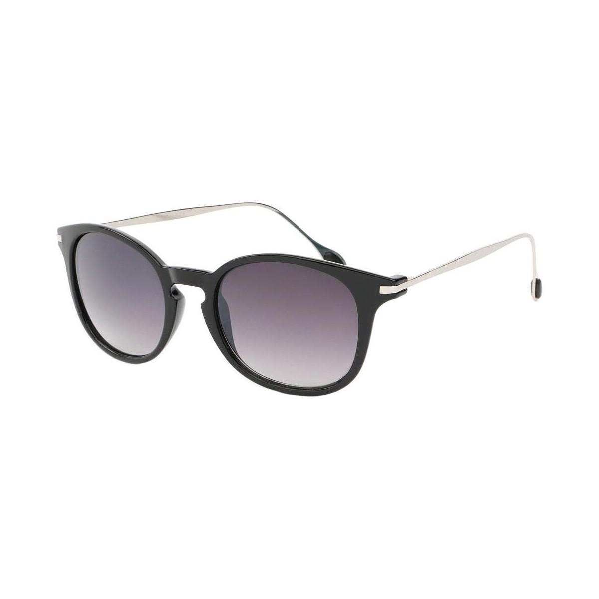 Eye Wear Lunette de soleil Mode Noir Brillant et Argent Zangra Noir