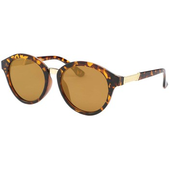 Montres & Bijoux Homme Lunettes de soleil Eye Wear Lunette de soleil Retro Ecaille Marron Valt Marron
