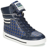 Chaussures Femme Baskets montantes Marc by Marc Jacobs CUTE KIDS MINI TOTO PLAID Bleu / Multicolore