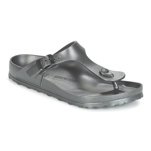 Chaussures Femme Tongs Birkenstock GIZEH EVA Anthracite Metallique