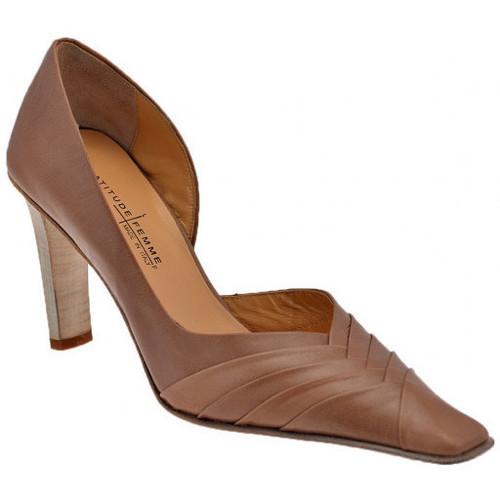 Chaussures Femme Escarpins Latitude Chaussure Open Cour T.80 Escarpins Beige