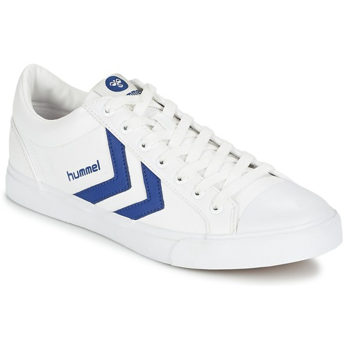 Baskets mode Hummel BASELINE COURT Blanc / Bleu 350x350