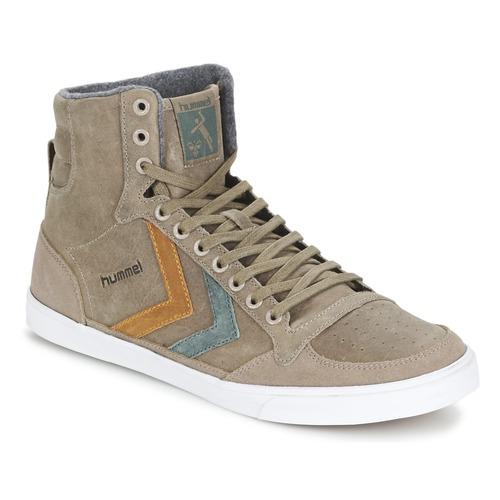 Chaussures Baskets montantes Hummel TEN STAR DUO OILED HIGH Marron