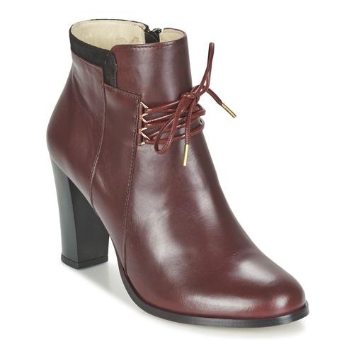 Chaussures Femme Low boots M. Moustache EMMA Bordeaux / Noir