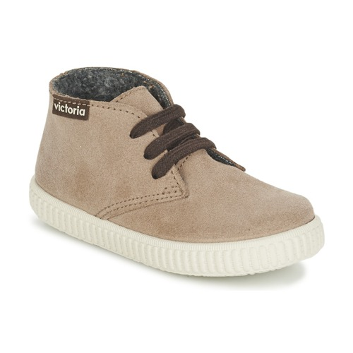 Chaussures Enfant Baskets montantes Victoria SAFARI SERRAJE KID Taupe