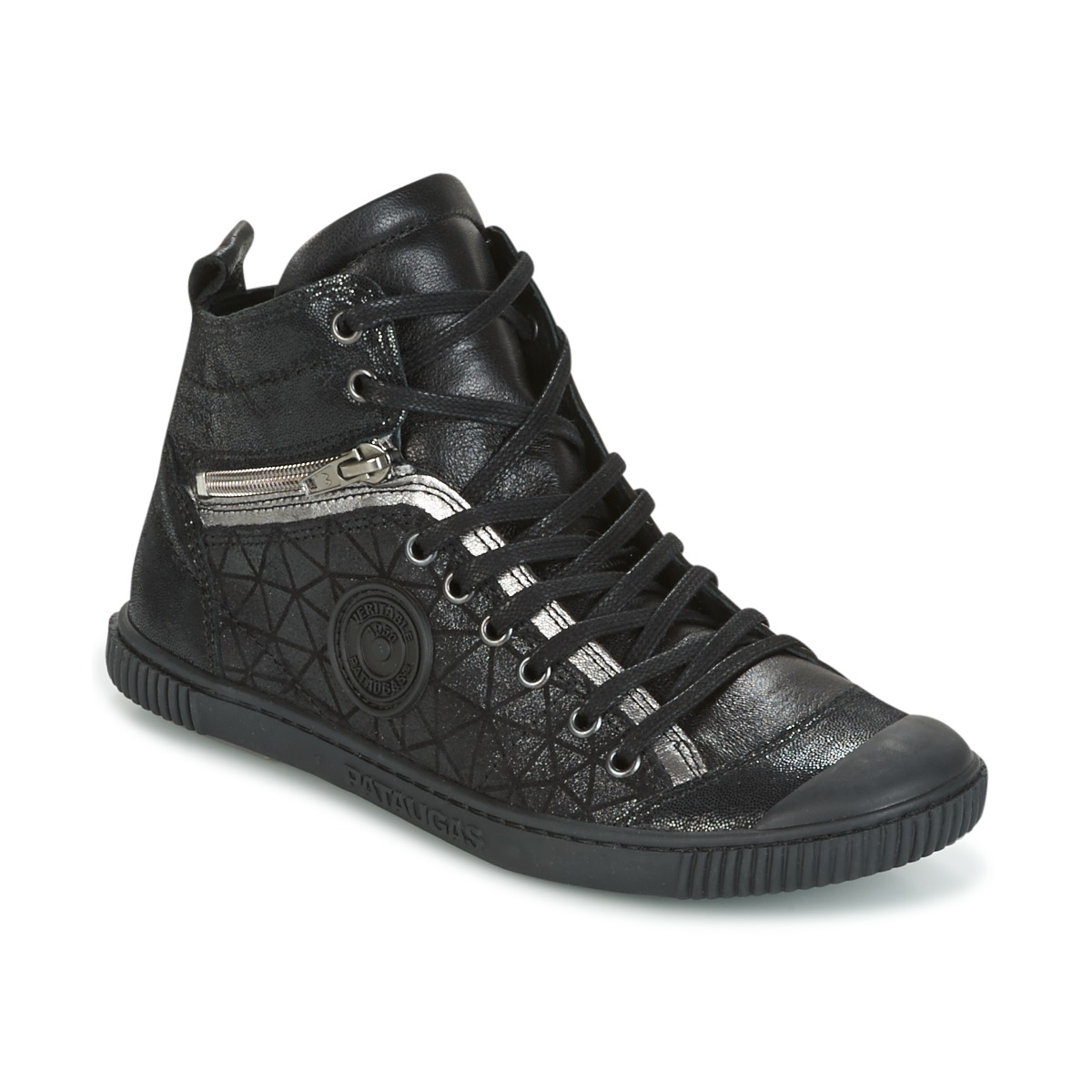 pataugas banjou noir livraison gratuite avec chaussures basket montante femme. Black Bedroom Furniture Sets. Home Design Ideas