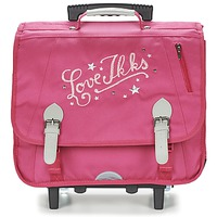 Sacs Fille Sacs / Cartables à roulettes Ikks LOVE IKKS TROLLEY CARTABLE 41CM Rose