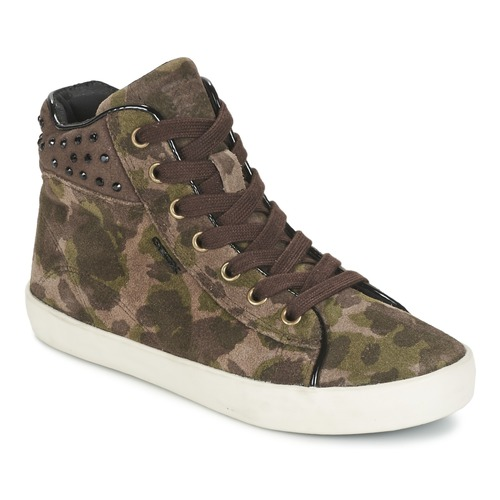 Chaussures Fille Baskets montantes Geox KIWI GIRL Vert