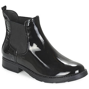 Chaussures Fille Boots Geox SOFIA Noir