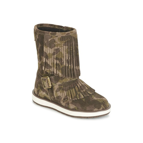 Chaussures Fille Boots Geox NOHA Vert