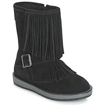Chaussures Fille Boots Geox NOHA Noir