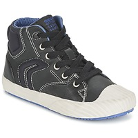 Chaussures Garçon Baskets montantes Geox ALONISSO BOY Noir / Bleu
