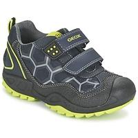 Chaussures Garçon Baskets basses Geox NEW SAVAGE BOY Bleu / Jaune