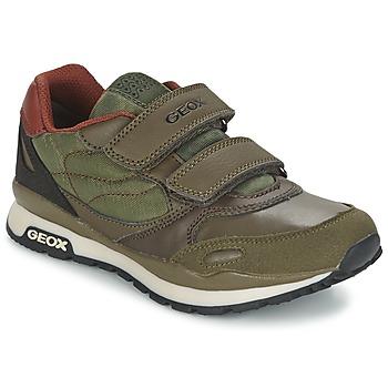 Chaussures Garçon Baskets basses Geox PAVEL Vert / Orange