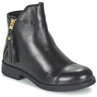 Chaussures Fille Boots Geox AGATE Noir