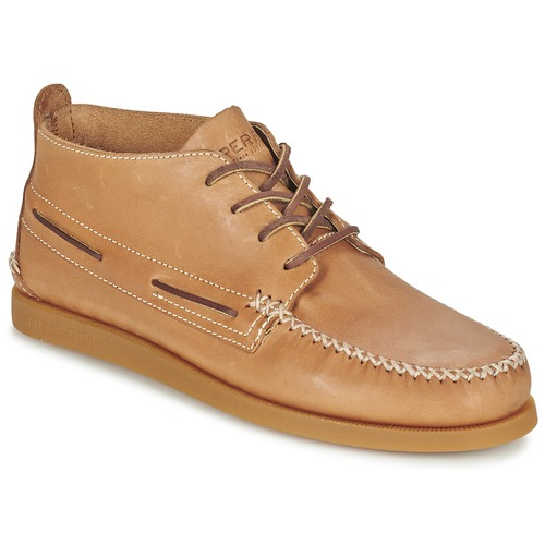 Bottines / Boots Sperry Top-Sider A/O WEDGE CHUKKA LEATHER Beige 350x350