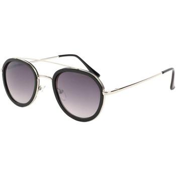 Montres & Bijoux Homme Lunettes de soleil Eye Wear Lunette de soleil a la mode Noire et Argent Leny Noir