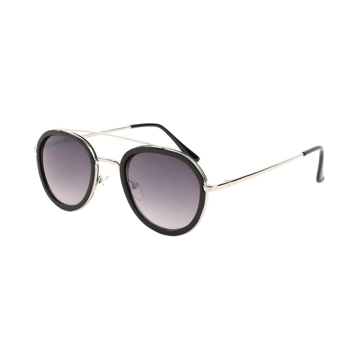 Eye Wear Lunette de soleil a la mode Noire et Argent Leny Noir