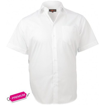 Chemises manches courtes Doublissimo chemisette premium basic blanc