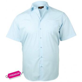 Vêtements Homme Chemises manches courtes Doublissimo chemisette premium basic bleu Bleu