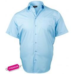 Chemises manches courtes Doublissimo chemisette premium basic bleu