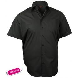 Chemises manches courtes Doublissimo chemisette premium basic noir