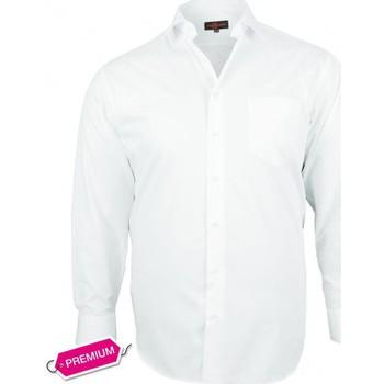 Chemises manches longues Doublissimo chemise premium basic blanc