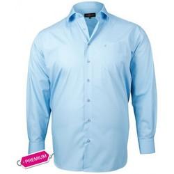 Chemises manches longues Doublissimo chemise premium basic bleu