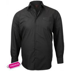 Chemises manches longues Doublissimo chemise premium basic noir