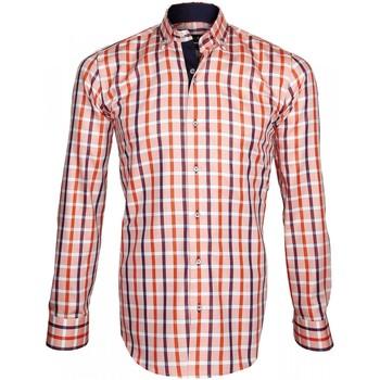 Vêtements Homme Chemises manches longues Emporio Balzani chemise oxford arezzo orange Orange