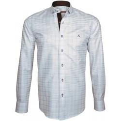 Vêtements Homme Chemises manches longues Andrew Mc Allister chemise a coudieres elbow bleu Bleu