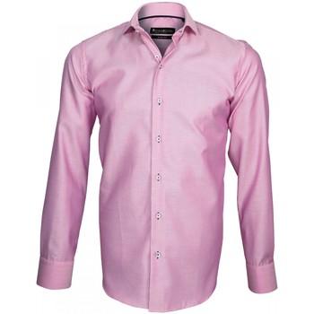 Vêtements Homme Chemises manches longues Emporio Balzani chemise tissu armuree settimo rose Rose