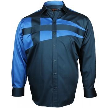 Vêtements Homme Chemises manches longues Doublissimo chemise mode nautica bleu Bleu