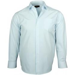 Vêtements Homme Chemises manches longues Doublissimo chemises popeline verone bleu Bleu