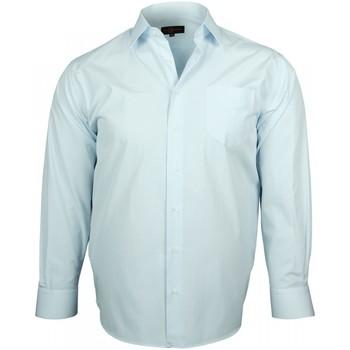 Chemises manches longues Doublissimo chemises popeline verone bleu