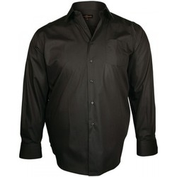 Chemises manches longues Doublissimo chemise en popeline trendy marron
