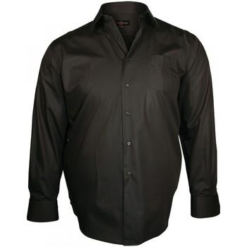 Vêtements Homme Chemises manches longues Doublissimo chemise en popeline trendy marron Marron