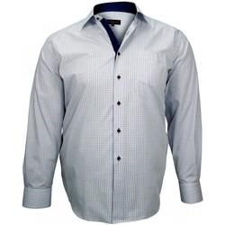 Vêtements Homme Chemises manches longues Doublissimo chemise sport classic bleu Bleu