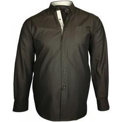 Vêtements Homme Chemises manches longues Doublissimo chemise a coudieres wellington marron Marron