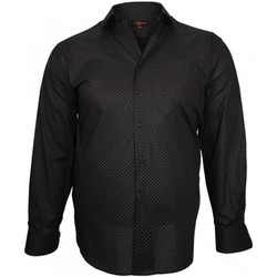 Chemises manches longues Doublissimo chemise fantaisie print noir