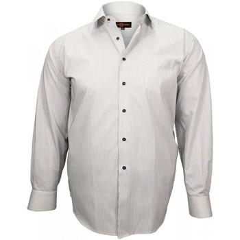 Vêtements Homme Chemises manches longues Doublissimo chemise classique john blanc Blanc