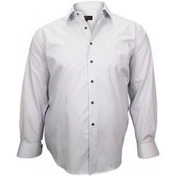 Vêtements Homme Chemises manches longues Doublissimo chemise classique john bleu Bleu