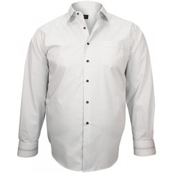 Vêtements Homme Chemises manches longues Doublissimo chemise classique smart blanc Blanc