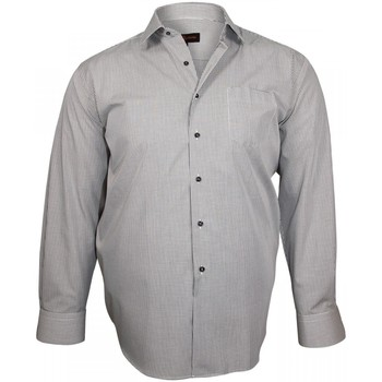 Vêtements Homme Chemises manches longues Doublissimo chemise classique smart noir Noir