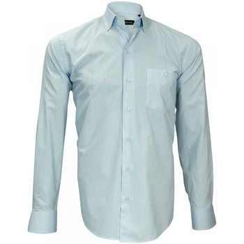 Vêtements Homme Chemises manches longues Emporio Balzani chemise tissu surseeker business blanc Blanc